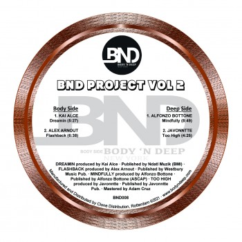 Various  feat Kai Alce, Javonntte - BND Project Vol 2 - Body N' Deep
