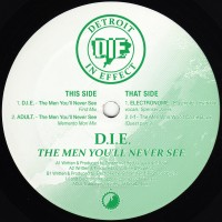 D.I.E. (Detroit In Effect) - The Men You'll Never See EP - CWCSX