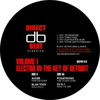 Aux88 / Posatronix / Dj K1 /Blak Tony - Electro in the key of Detroit VOL 1 - Direct beat