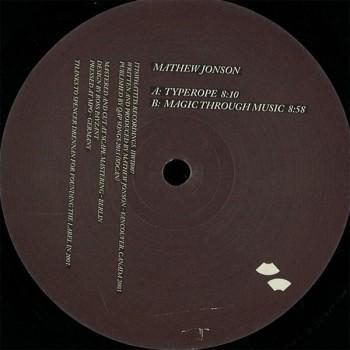 Mathew Jonson - Typerope EP - ItIsWhatItIs
