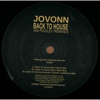 JOVONN - BACK TO HOUSE / IAN POOLEY REMIXES - UNDERGROUND SOLUTION
