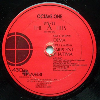 "Octave One – The ""X"" Files - 430 West – 4W-220"