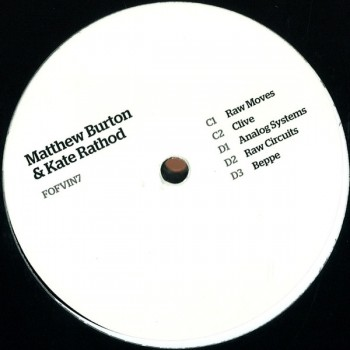 Matthew Burton and Kate Rathod ‎– Raw Moves - Fear Of Flying