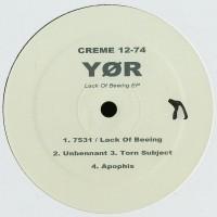 Yør – Lack Of Beeing - Creme Organisation
