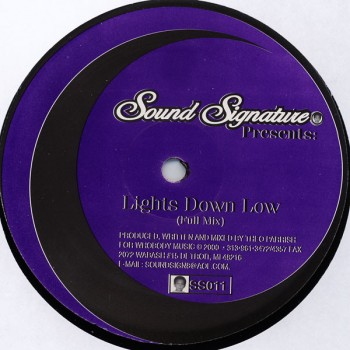 Theo Parrish - Lights Down Low - Sound Signature - SS011
