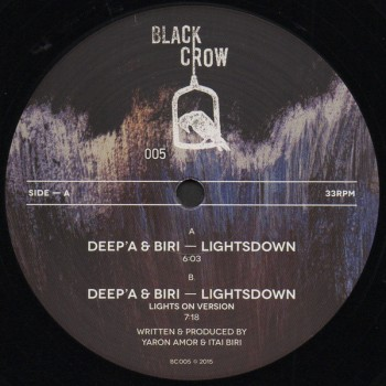 Deep'a and Biri  - Lightsdown - Black Crow Records - BC005
