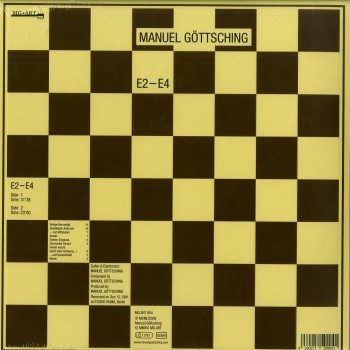 Manuel GÖttsching - E2-e4 - 2016 - 35th Anniversary Edition ( Lp,180g, Hq Embossed Chessboard Sleeve) - MG.ART