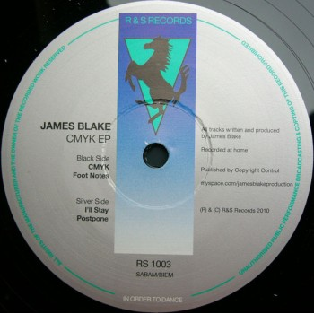 James Blake - CMYK EP - R & S Records - RS 1003