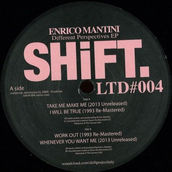 Enrico Mantini - Different Perspectives EP - Shift LTD