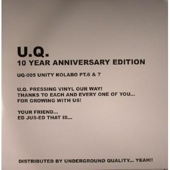 VARIOUS ARTISTS - UNITY KOLABO - PART 6 AND 7  - UNDERGROUND QUALITY