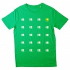 Delsin Multiple Logo Shirt - Size Large Green