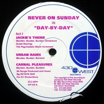 Never On Sunday - Day By Day (Original Pressing) - 430 West